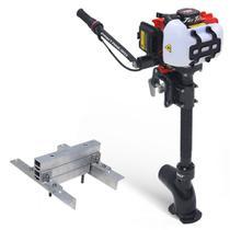 Kit Pantaneiro Jet Turbo Central+ Acelerador remoto + Suporte Central Foca, Mero e Marlin -