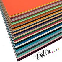 Kit papel color plus 180g 30,5x30,5 (30 cores / 1 folha de cada cor) - Fedrigoni