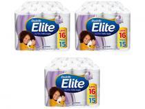 Kit Papel Higiênico Folha Dupla Elite Ultra - 3 Pacotes com 16 Rolos de 30m Cada