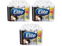 Kit Papel Higiênico Folha Tripla Elite - Soft & Strong 3 Pacotes com 16 Rolos de 20m Cada
