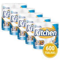 Kit Papel Toalha Folha Dupla Kitchen 600 Folhas -