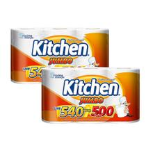 Kit Papel Toalha Folha Dupla Kitchen Jumbo 1.080 Folhas - Softys