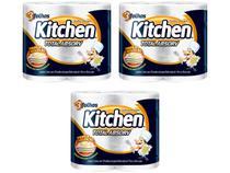 Kit Papel Toalha Folha Tripla Kitchen - Total Absorv 3 Pacotes com 2 Unidades Cada