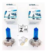 Kit Par Lampada Super Branca Tipo Xenon 8500k H7 55w 12v - Techone