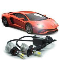 Kit Par Lâmpada Super Led Automotiva Farol Carro 3D H16 8000 Lumens 12V 24V 6000K - S/M