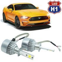 Kit Par Lâmpada Super Led Automotivo Farol Carro Caminhão H1 10000 Lumens M9C 12V 24V 6000K - S/m