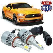Kit Par Lâmpada Super Led Automotivo Farol Carro Caminhão H11 10000 Lumens M9C 12V 24V 6000K - S/m
