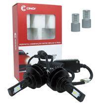 Kit Par Lâmpada Super Led Cree Automotiva Farol Carro 8800 Lumens 12V 24V Cinoy Plus H7 6500K -