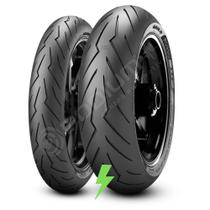 Kit Par Pneu Pirelli Diablo Rosso 3 180/55-17 + 120/70-17 -