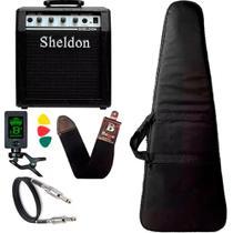 Kit para baixo com amplificador Sheldon Capa Cabo Correia -