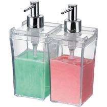 Kit para Banheiro Duo Quadrado Arthi Cristal -