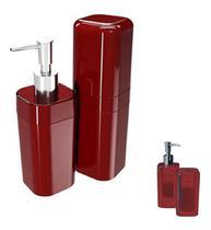 Kit para banheiro splash com tampa 2 peças coza 99182 brinox -