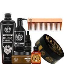 Kit para barba completo cuidado hidratação com pomada pente tônico - Lady-iv
