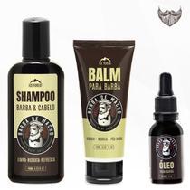 Kit para Barba Shampoo Balm e Óleo - Ice Forest - Vol. 6 - Barba De Macho