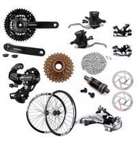 Kit Para Bike Completo 24v Freios Disco Rodas 29 Bike Mtb - Shimano