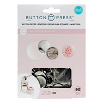 Kit para Botons WeR Memory Keepers Button Press Pack Small 25 mm 90 Peças  661096 - WE R MEMORY