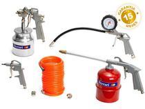 Kit para Compressor de Ar Profissional 6 Peças - Ferrari Alumínio