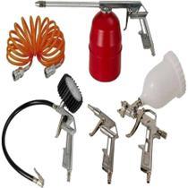 Kit Para Compressor Schulz 5 Pç Calibrador Pistola De Pintura -