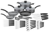 Kit para cozinha de alumínio com revestimento interno de antiaderente 36 peças - Tramontina