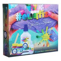 Kit Para Fazer 2 Glitter Slimes - i9 Brinquedos 0193 -