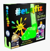 Kit Para Fazer 2 Slime Brilha No Escuro - i9 Brinquedos 0239 -