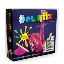 Kit para fazer 2 Slime Clear Glitter Euqfiz 5+ I9Brinquedos - I9 Brinquedos