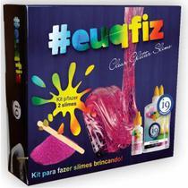 Kit para Fazer 2 Slimes Euqfiz Clear Glitter Slimes I9 Brinquedos BRI0226 -