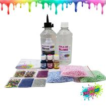 Kit Para Fazer Clear Slime Slime Transparente Pérolas Isopor Corantes - Ine Slime -