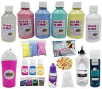 Kit Para Fazer Slime Completo Muitos Itens - Ine Slime -