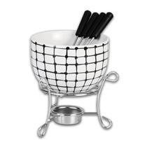 Kit para Fondue em Cerâmica Hauskraft -