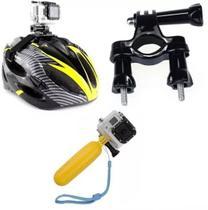 Kit para Go Pro e câmeras de ação SJCAM  Eken Sport Cam HD 4k com cinta capacete guidao - Generico