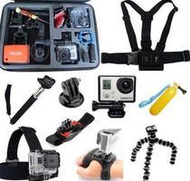 Kit para Go Pro Hero 5 Hero 6  SJCAM Sony Eken Sport Cam Ultra HD Mala grande Luva - Generico
