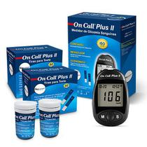 Kit para Medir Glicemia com 100 Tiras  On Call Plus II -