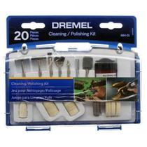 Kit para Mini Retífica Referência 684-01 c/ 20 Peças p/ Limpar e Polir DRMEL - Dremel