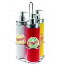 Kit para Molhos AÇO INOX 4 Pecas 300ML Forma 802210 -