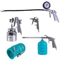 KIT para Pintura MTX STELS 5730255, pistola com tanque Baixo (sucção) - 5 peças -