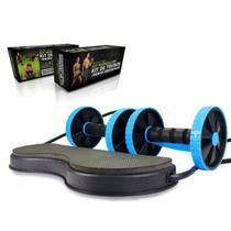 Kit para Treinos e Exercícios Fitness e Rodas Abdominais Azul - Mbfit