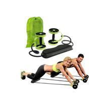 Kit para Treinos e Exercícios Fitness e Rodas Abdominais Verde - Mbfit