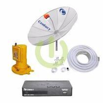 Kit Parabólica 1,9 Digital Century Com 1 Receptor Digital Midia Box Hd E Multiponto - Century -
