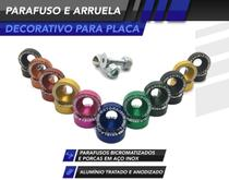 Kit Parafuso de Placa Decorativo - Shieldmotors