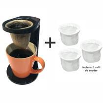 Kit Passador Café Com Caneca Colorida 330Ml - Ou -