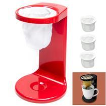 Kit Passador De Café Individual Coador Mini Cafézinho Com 3 Refil - Ou -