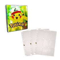 Kit Pasta Fichário 3 Aros Pokémon Pikachu + 3 Refil de 10 Páginas Para Guardar Cards - Taberna Do Dragão