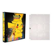 Kit Pasta Fichário 3 Aros Pokémon Pikachu Estilos + 1 Refil de 10 Páginas Para Guardar Cards - Taberna Do Dragão