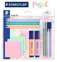 Kit Pastel set Staedtler - Canetas e Lapis de Cor 15 Itens -