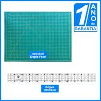Kit Patchwork com Base De Corte A2 60x45cm + Régua De Metal 60cm Patchwork - Redshock