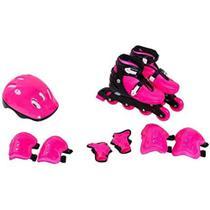 Kit Patins Radical Roller Infantil Completo com Capacete e Proteções Bel Sports - BEL FIX