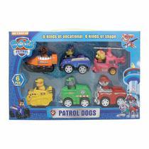 Kit Patrulha Canina 6 Personagens Fricção 7 cm - Patroldogs