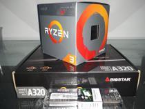 Kit PC Gamer de Entrada Ryzen 3 2200g + Biostar A320MH + 8GB DDR4 2666Mhz - Amd, Biostar, Patriot.