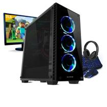 Kit pc gamer neologic mine box nli81015 g5400 8gb (geforce gtx 1050ti) 1tb + monitor 21,5 -